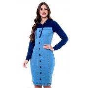 Vestido Juliana De Malha Denim, Moda Evangélica - Hapuk