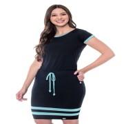Vestido Layla De Malha com Entrei Meio - Hapuk