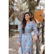 Vestido Monica De Viscose Begonia, Moda Evangélica - Jany Pim