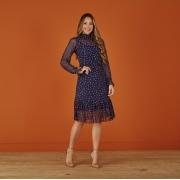 Vestido Nancy No Tule De Poá Texturizado, Moda Evangélica - Tatá Martello