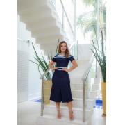 Vestido Titanium Jeans Evasê Com Detalhe No Ombro