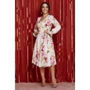 Vestido Transpassado Floral - Jany Pim