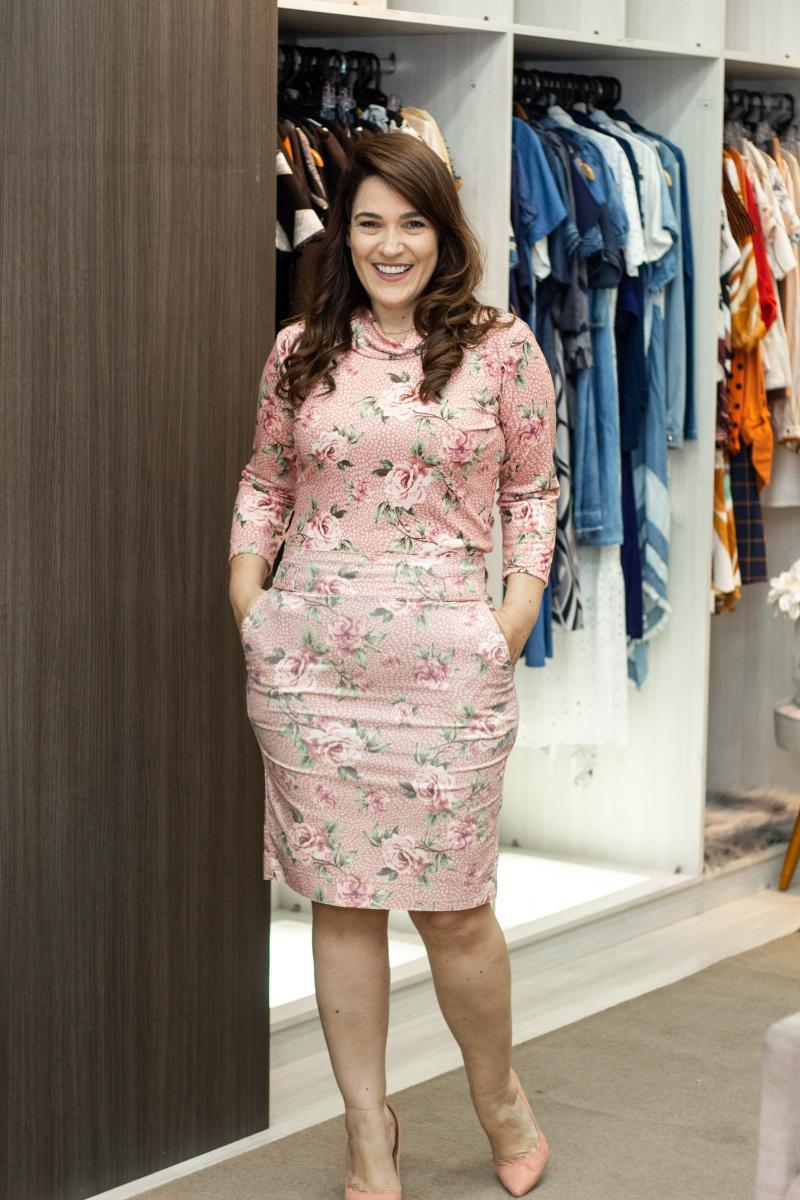 Blusa De Malha Estampada, Moda Evangélica - Laura Rosa
