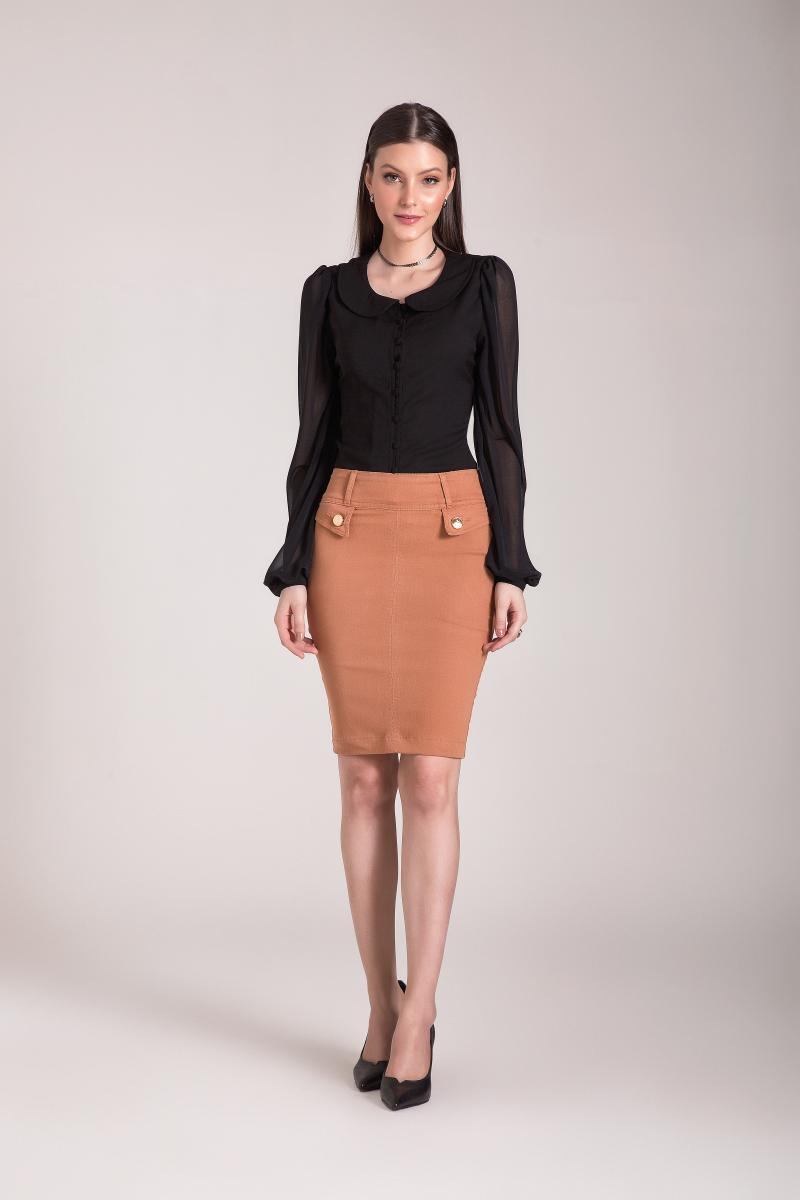 Camisa Com Botões Frontal, Moda Evangélica - Laura Rosa