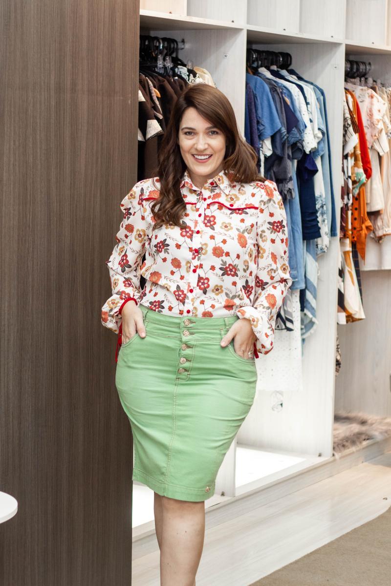 Camisa Crepe Estampado, Moda evangélica - Laura Rosa