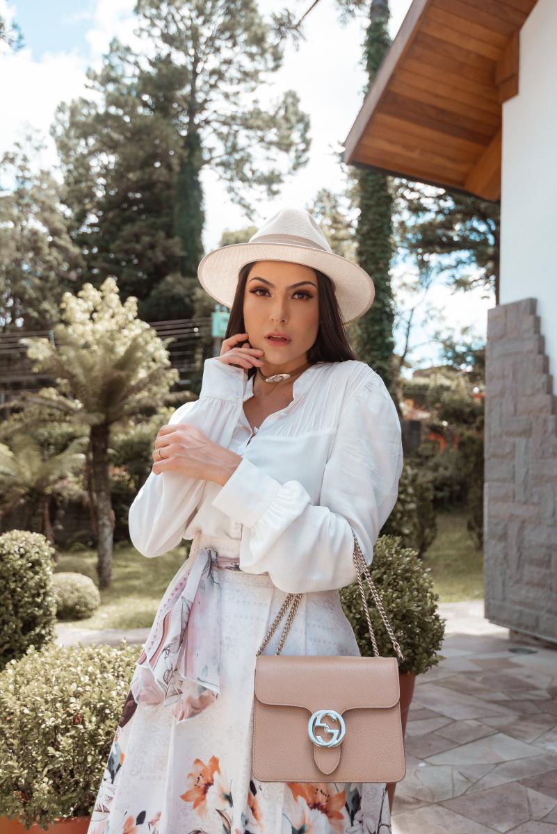 """Camisa Jaqueline Social Decote Em """"v"""" Botões Madre Perolas, Moda Evangélica - Jany Pim"""