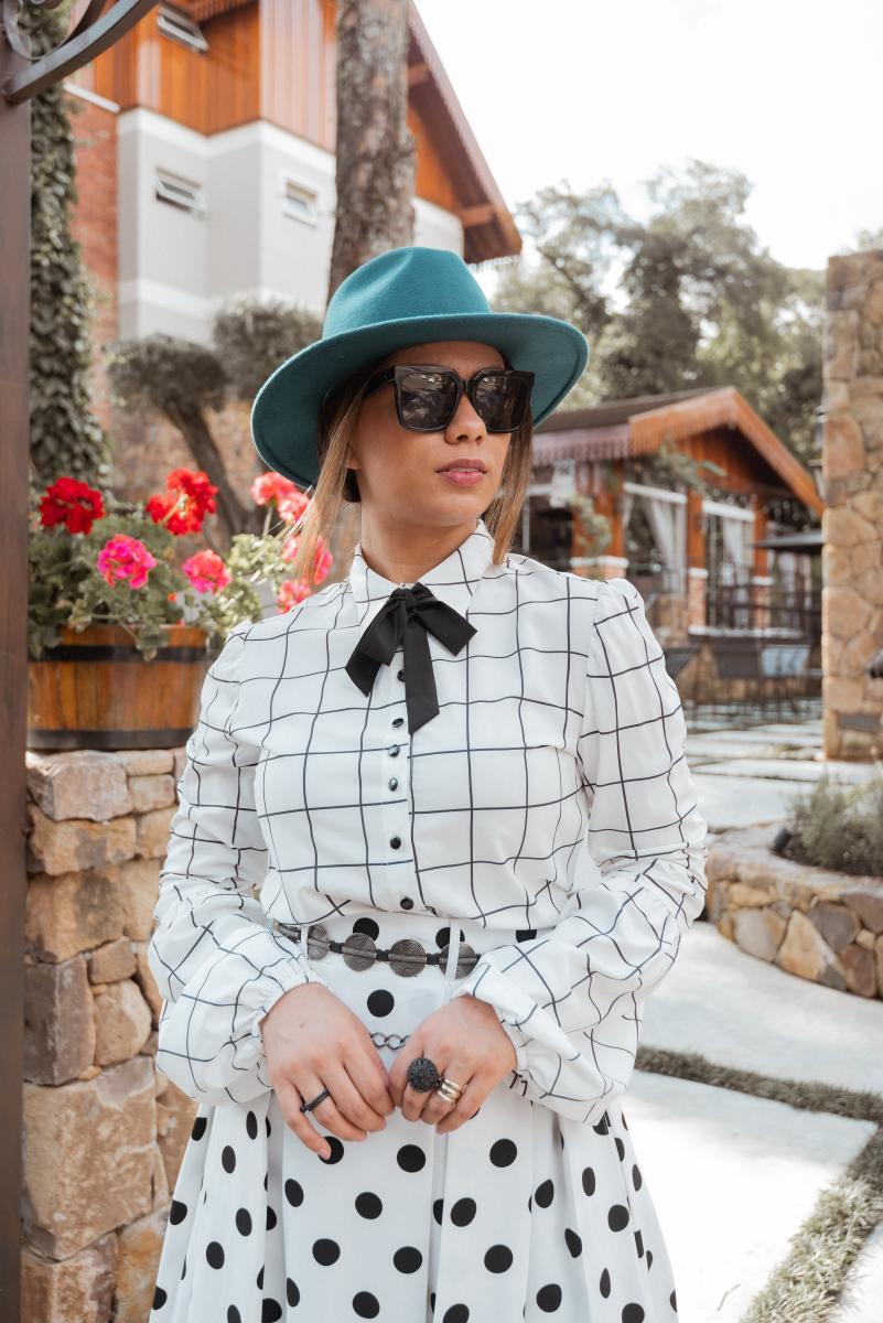 Camisa Liara De Viscose Begonia, Moda Evagélica - Jany Pim