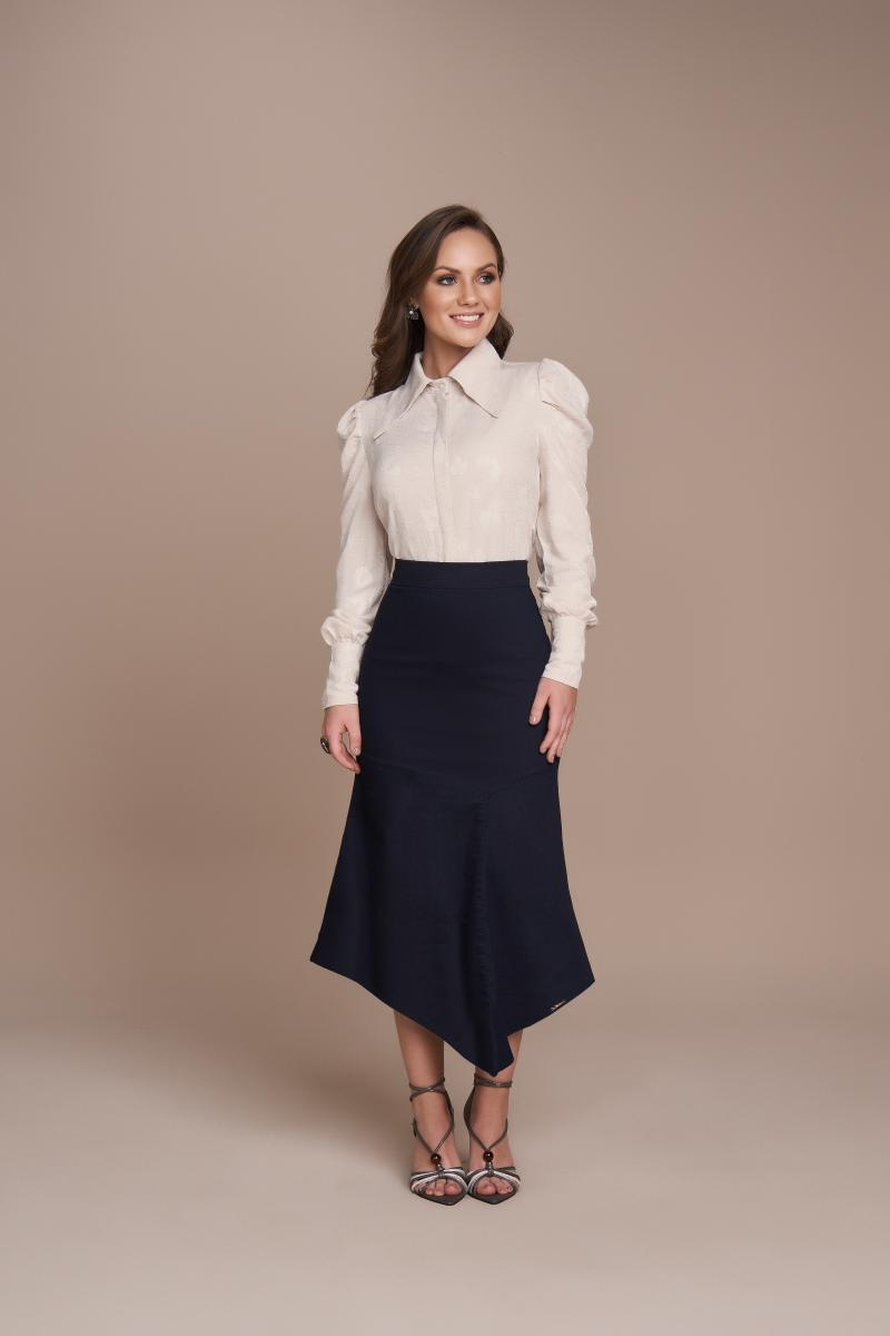 Camisa Viscose Jacquard, Moda Evangélica - Titanium