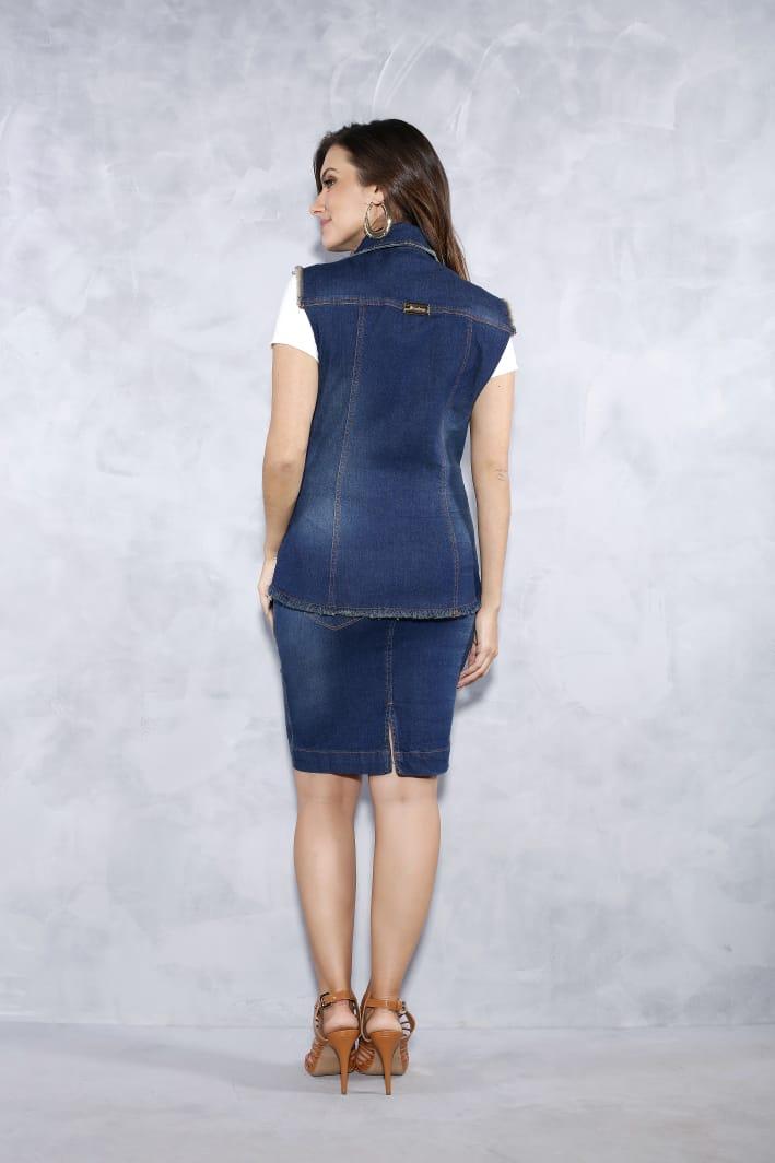 Colete Jeans - Titanium