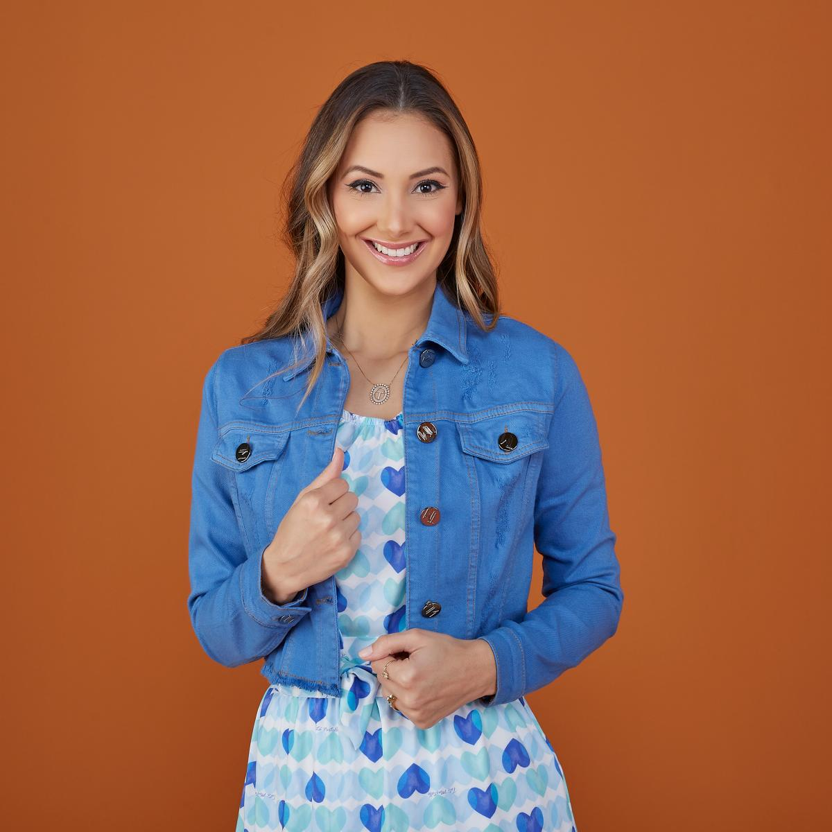 Jaqueta Jeans Colors, Moda Evangélica - Tatá Martello