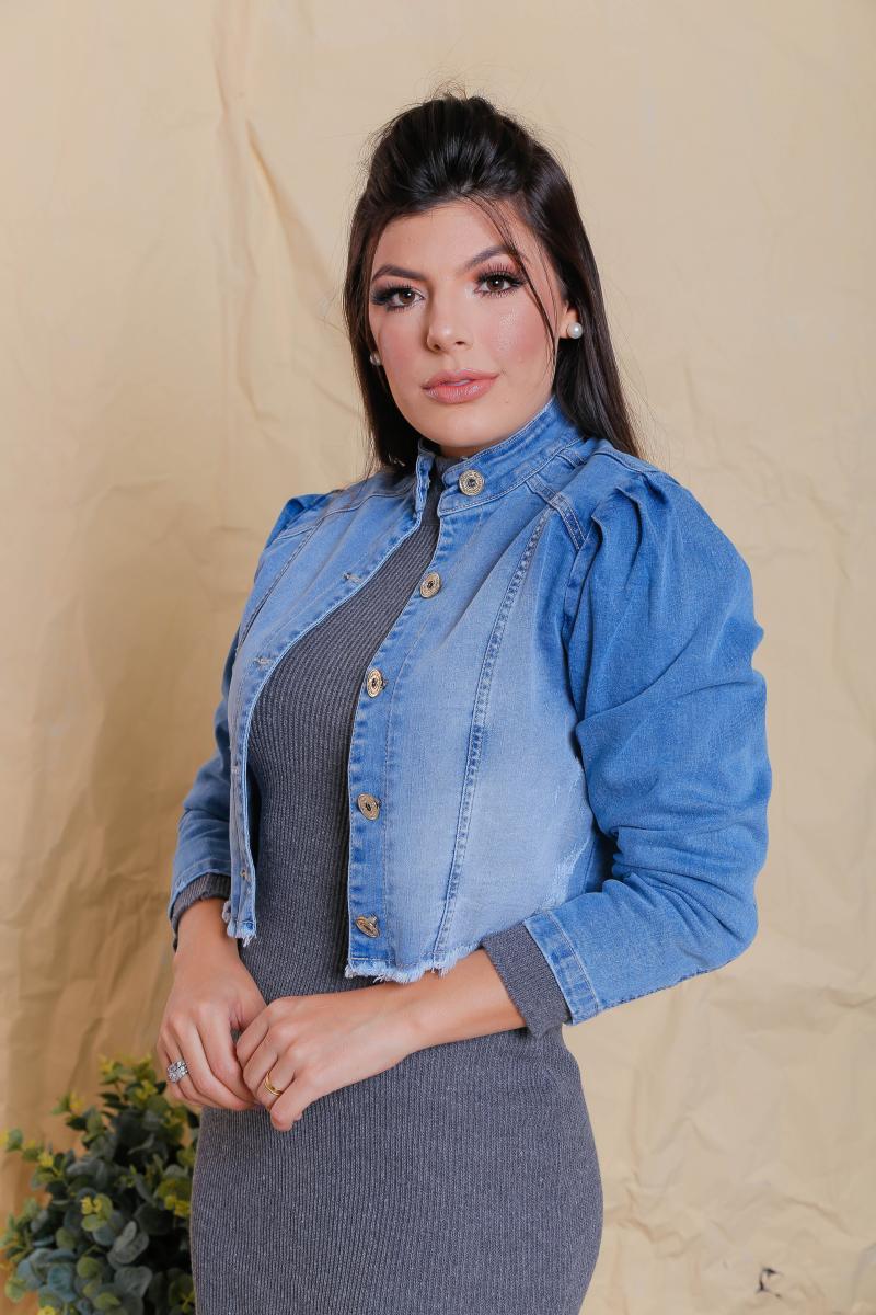Jaqueta Jeans Helen, Moda Evangélica - Victórias Princess