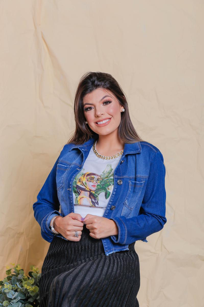 Jaqueta Jeans Safira, Moda Evangélica - Victórias Princess