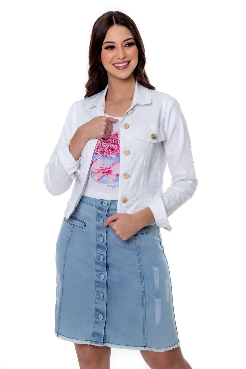 Jaqueta Lavínia, Jeans Colorida - Hapuk