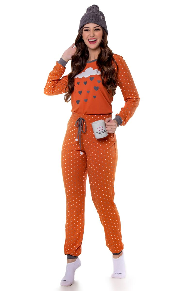 Pijama Talita Malha Poá, Moda Evangélica -Hapuk