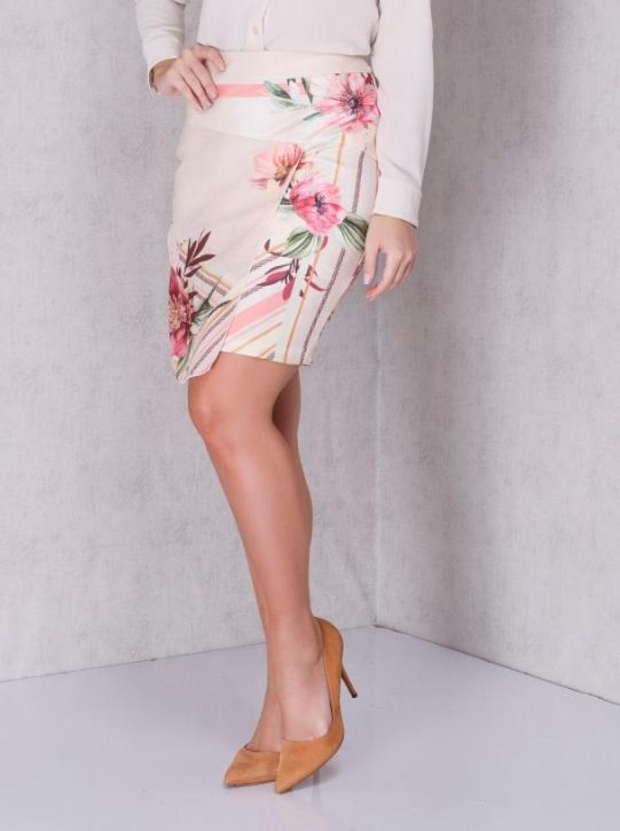 Saia Jany Pim com Estampa Floral