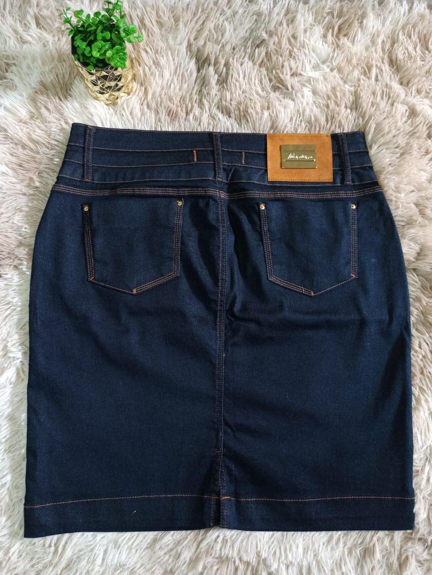 Saia Jeans 50cm - Titanium