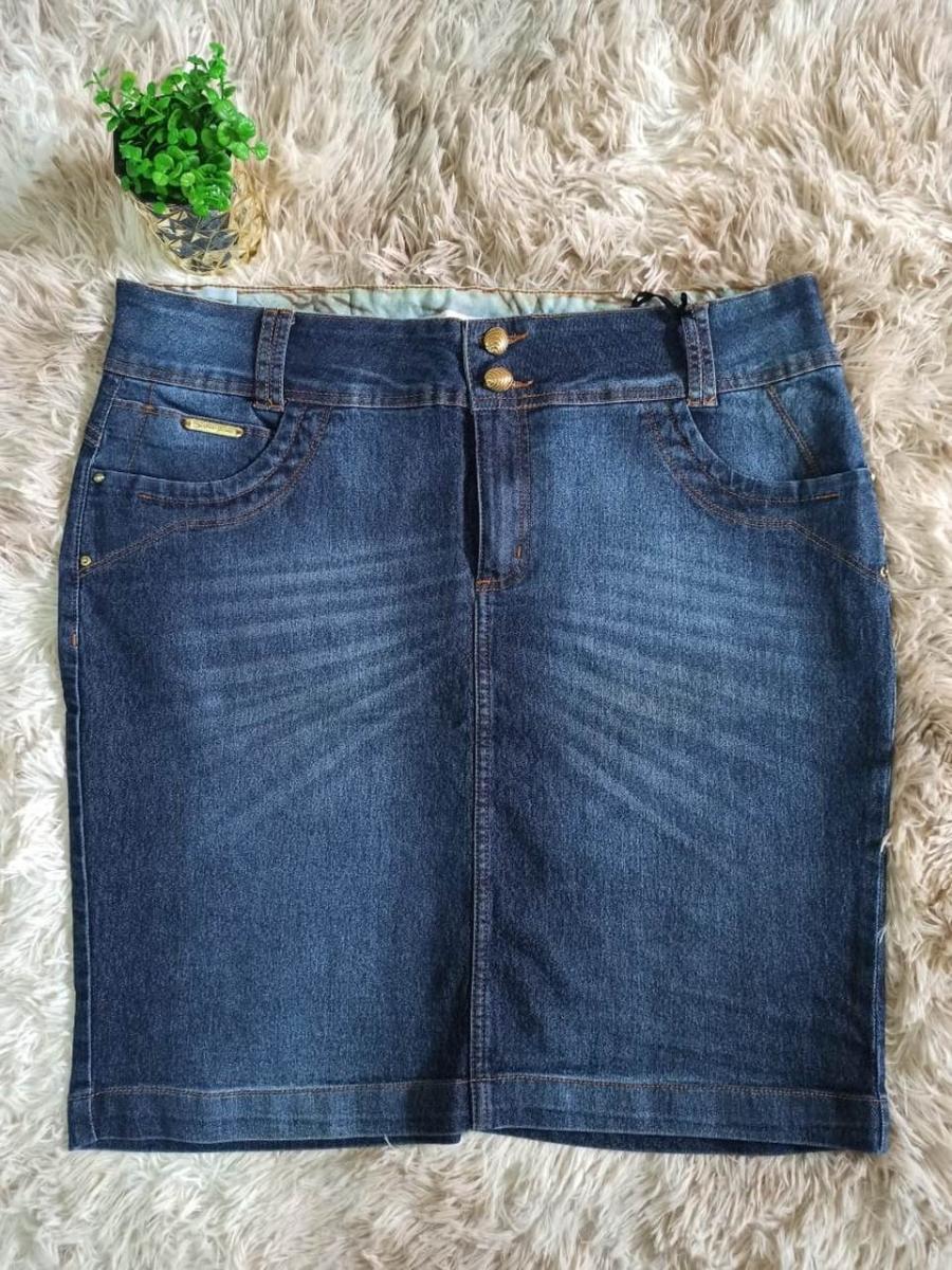 Saia Jeans Tradicional Com Lavagem - Laura Rosa
