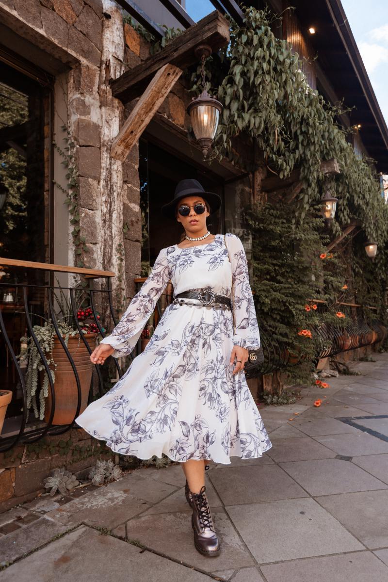 Vestido Ana Beatriz Estampa Exclusiva, Moda Evangélica - Jany Pim