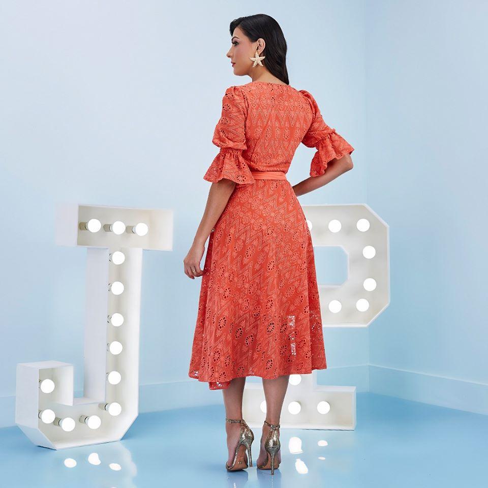 Vestido de Lese Evasê - Jany Pim