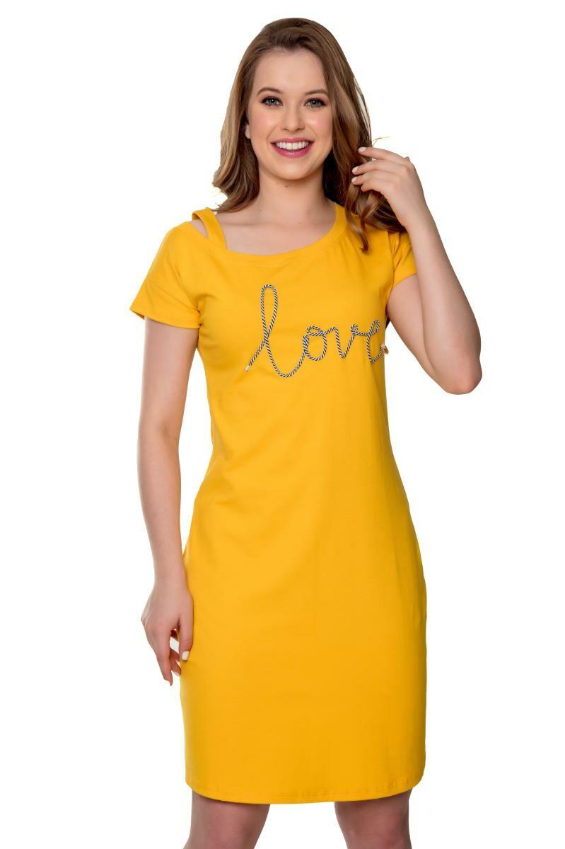 Vestido De Malha Bordado Industrial Love Samara - Hapuk