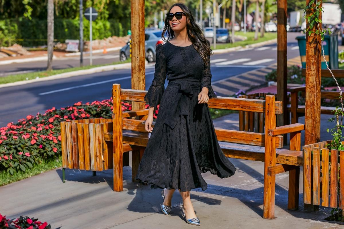 Vestido De Renda - Jany Pim