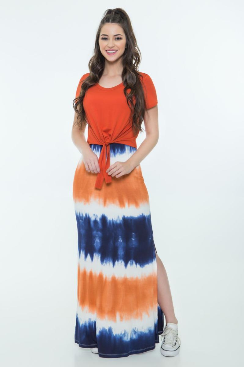 Vestido Hapuk Longo Tie Dye