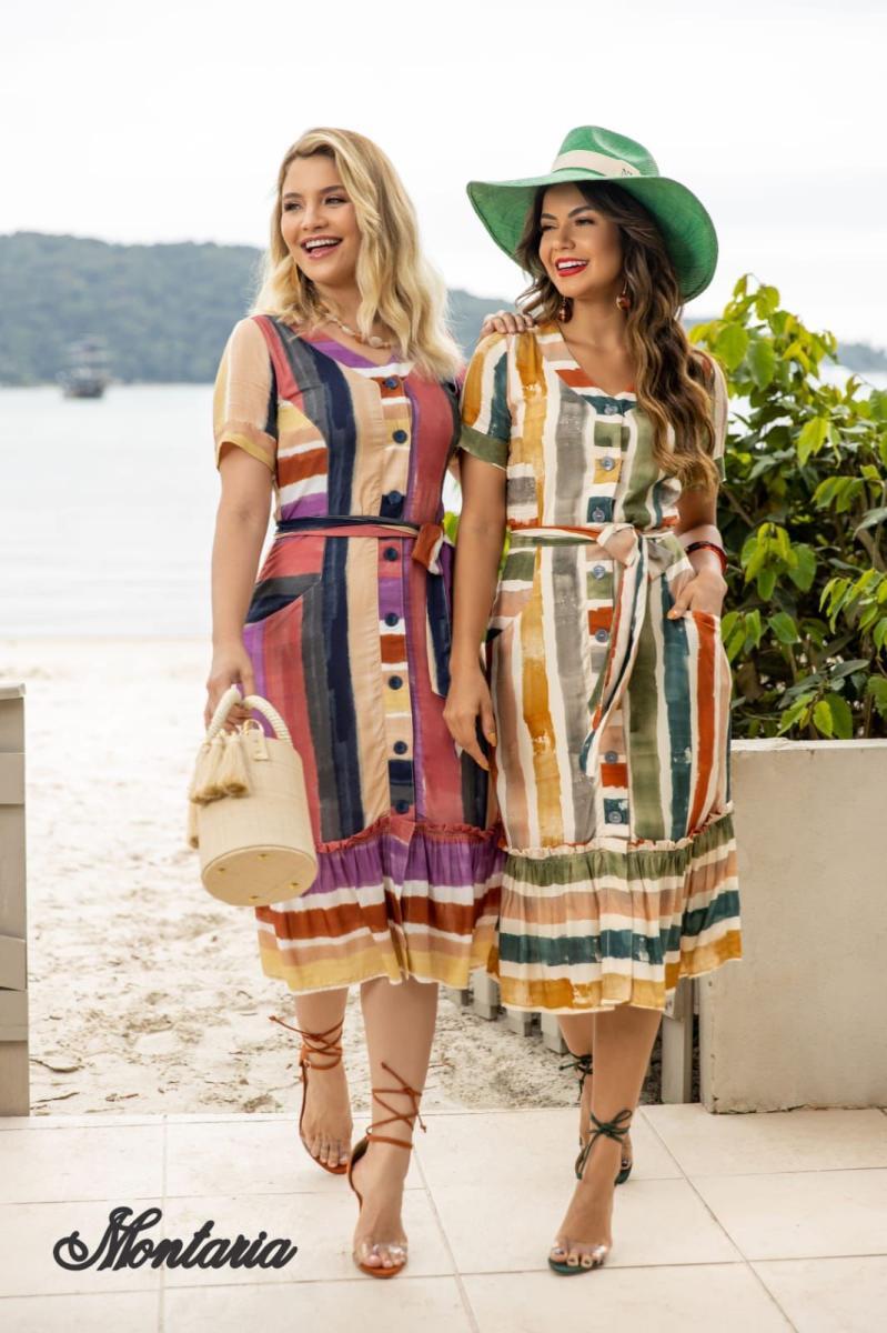 Vestido Jana Social de Alfaiataria Com Recortes na Barra, Moda Evangélica - Montaria