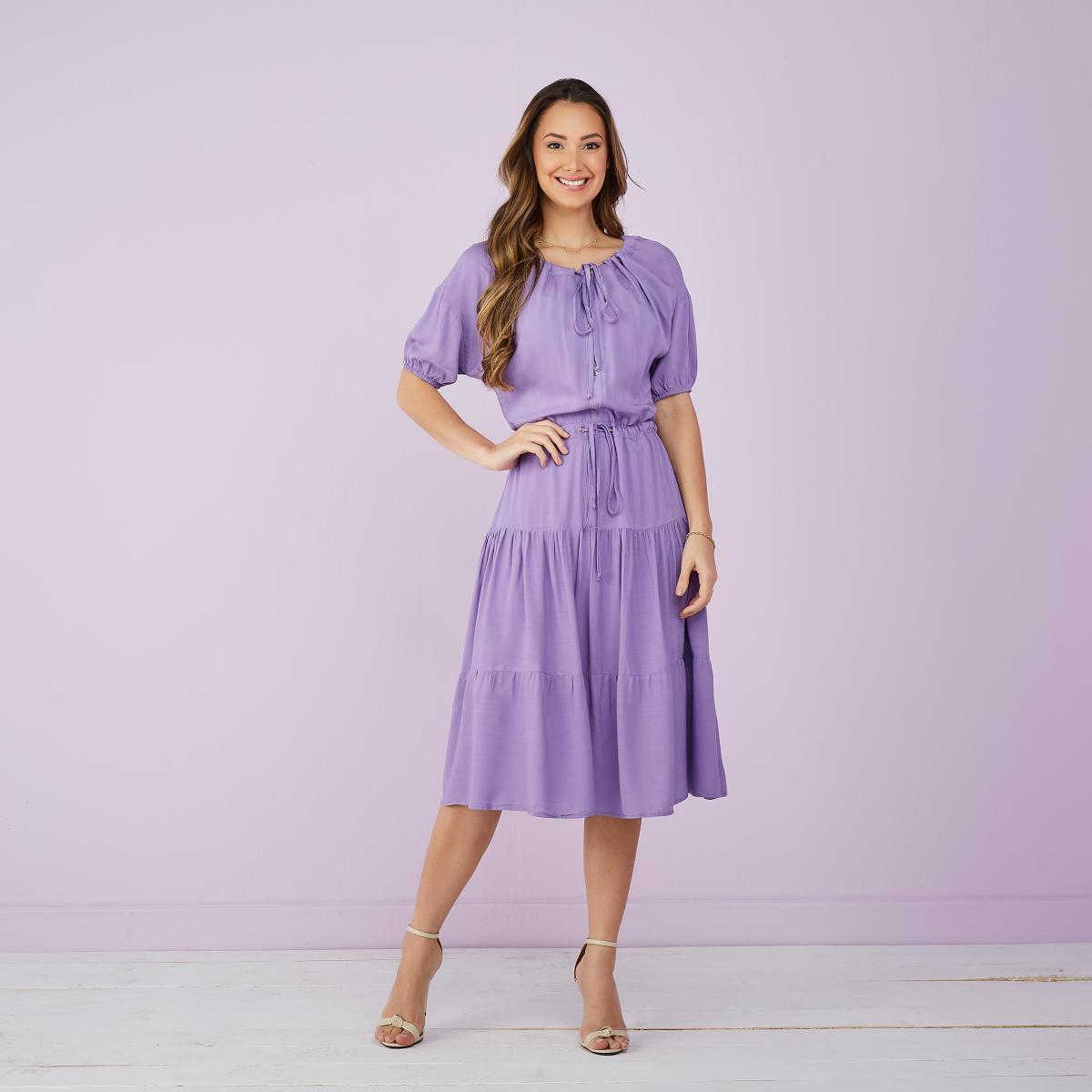 Vestido Jasmim Viscolinho 2 Marias, Moda Evangélica - Tatá Martello