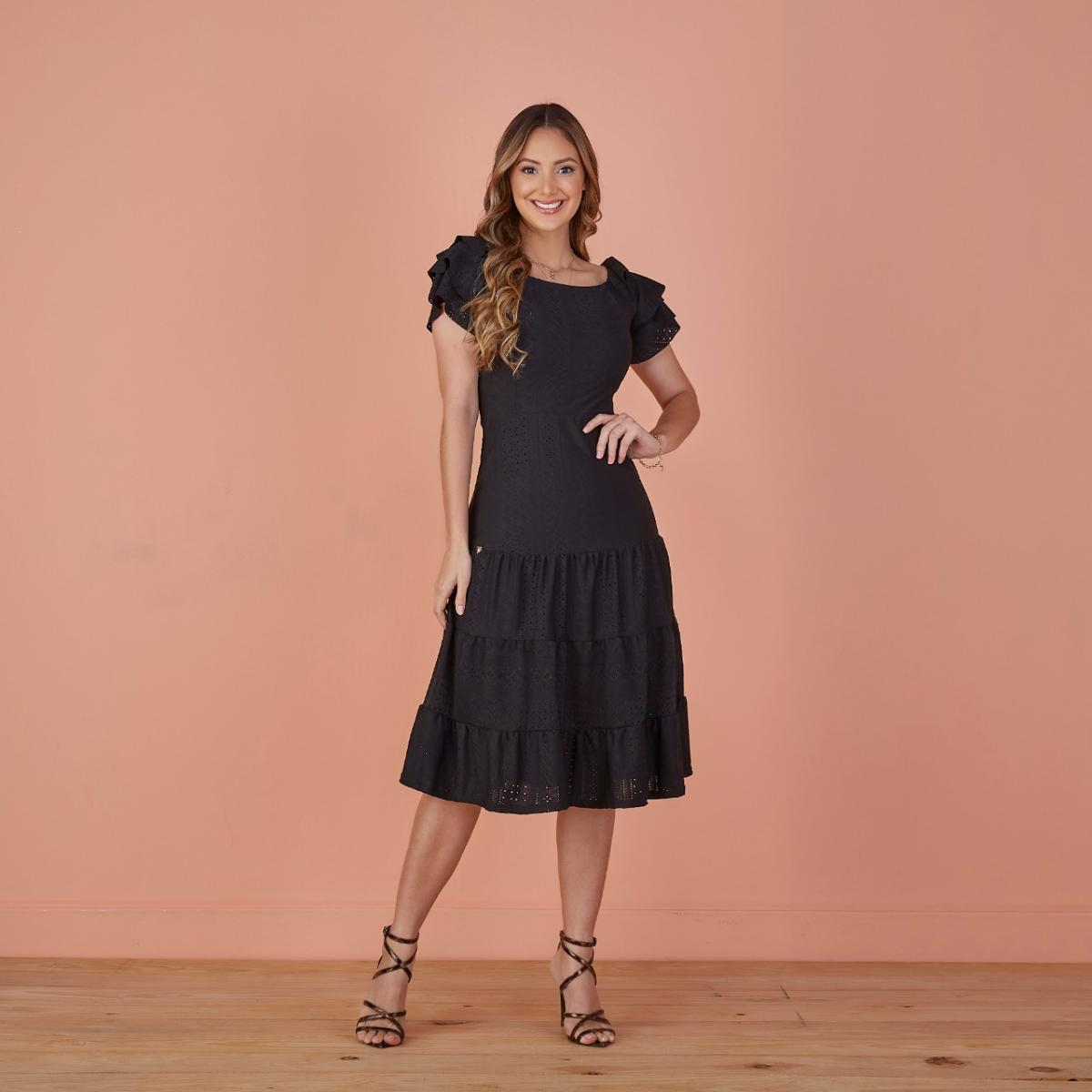 Vestido Lara Malha Laise - Moda Evangélica - Tatá Martello