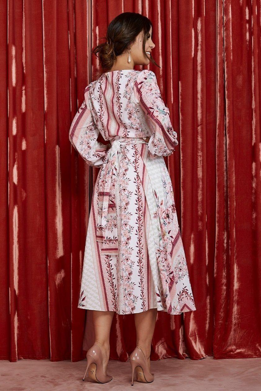 Vestido Midi Estampado Floral - Jany Pim