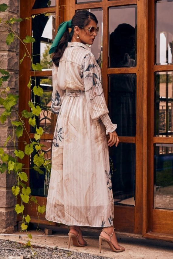 Vestido Midi Fio De Lorex - Jany Pim