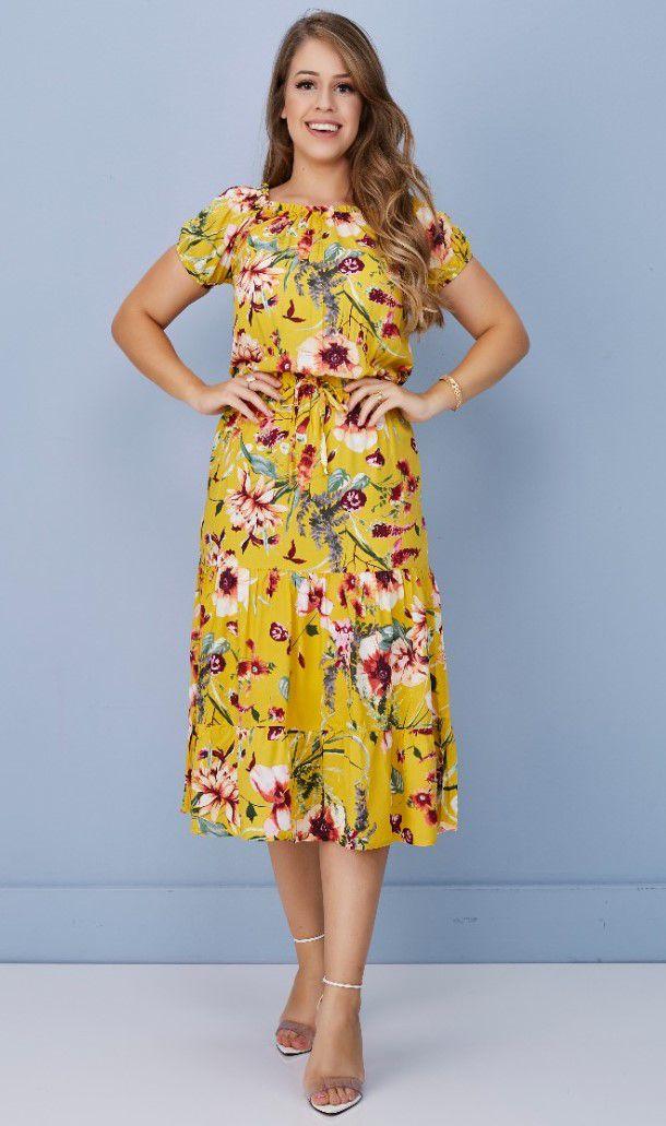 Vestido Midi Floral - Tatá Martello