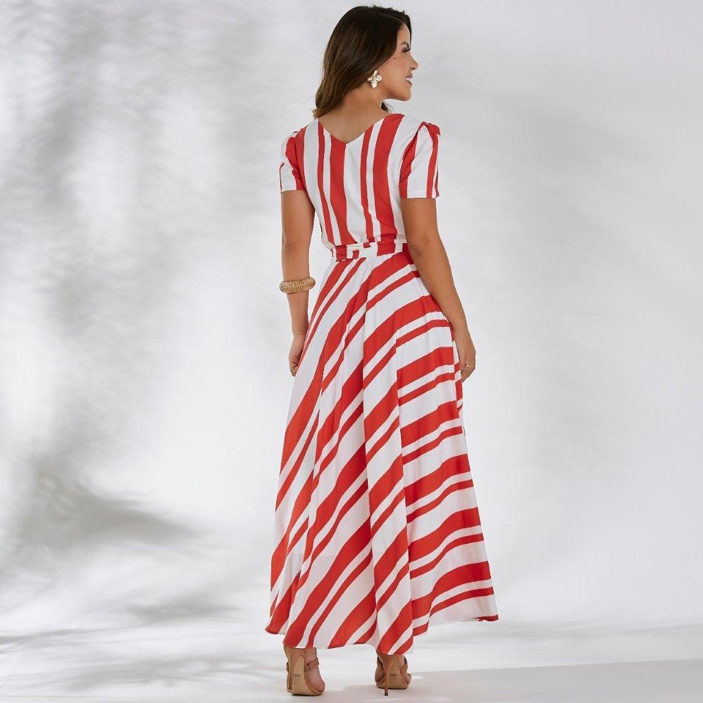 Vestido Midi Listrado - Jany Pim
