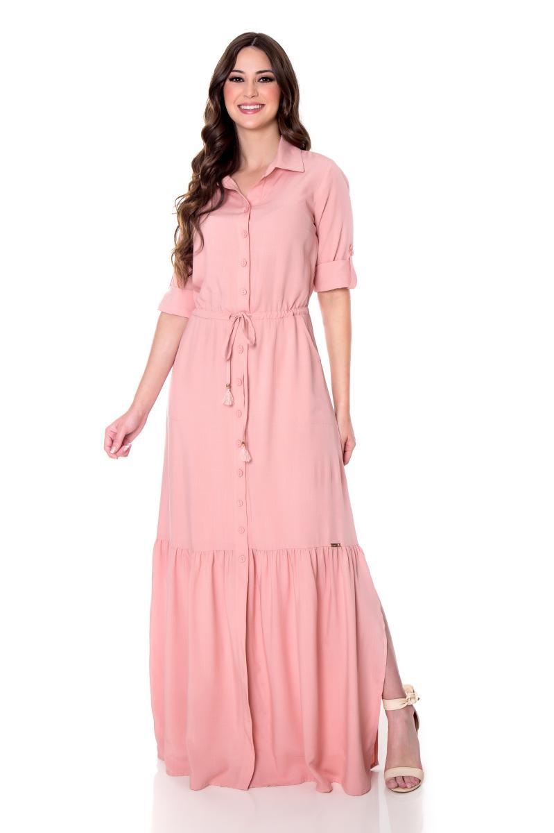 Vestido nadine longo de viscose, moda evangélica - hapuk