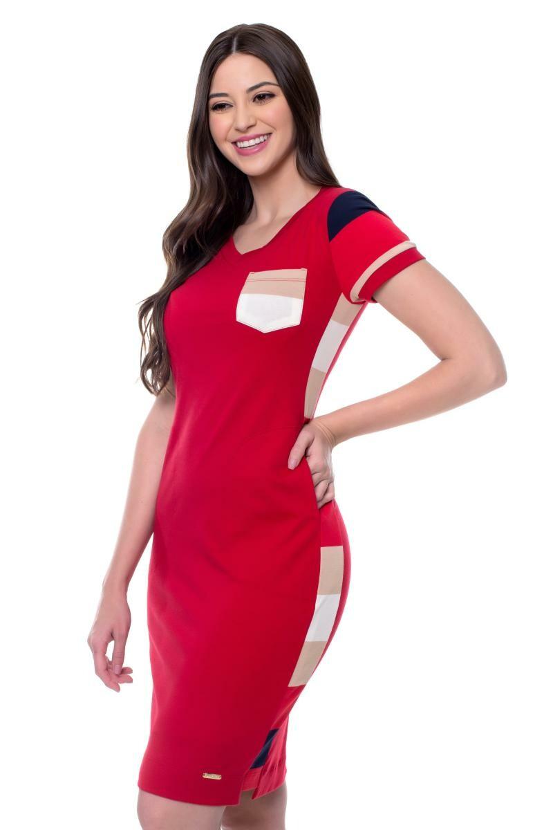 Vestido Samanta Tubinho Com Recorte Na Lateral - Hapuk