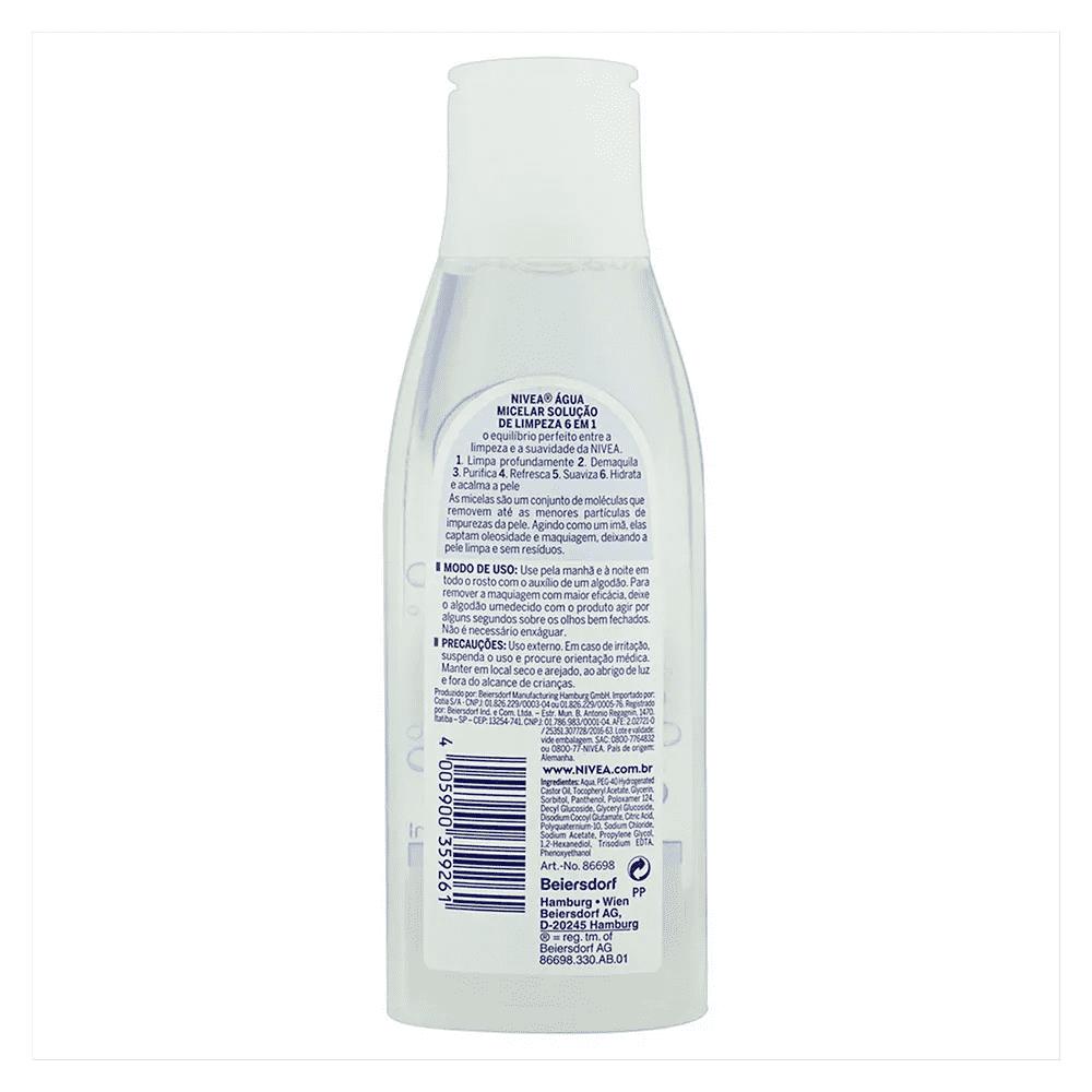 Água Micelar MicellAIR Solução de Limpeza 7 em 1 200ml - Nivea  - Caroline Gil Cosméticos
