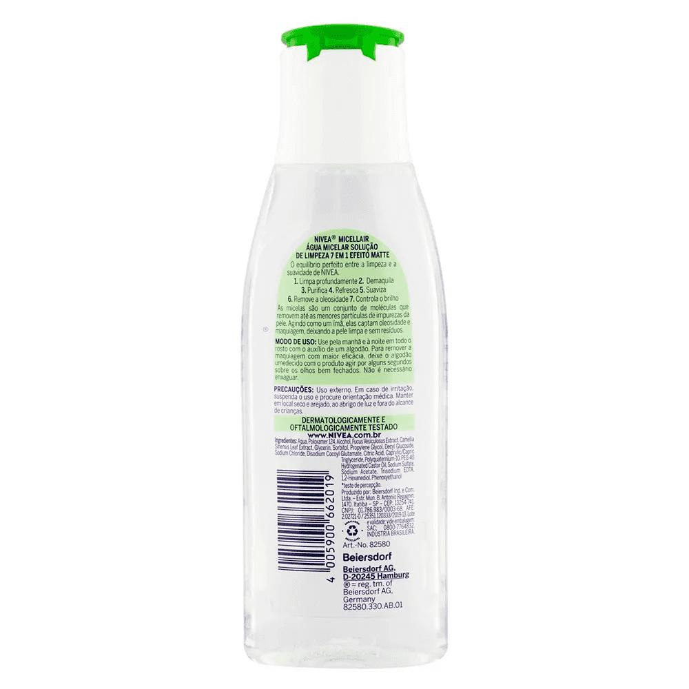 Água Micelar MicellAIR Solução de Limpeza 7 em 1 efeito Matte - Nivea  - Caroline Gil Cosméticos