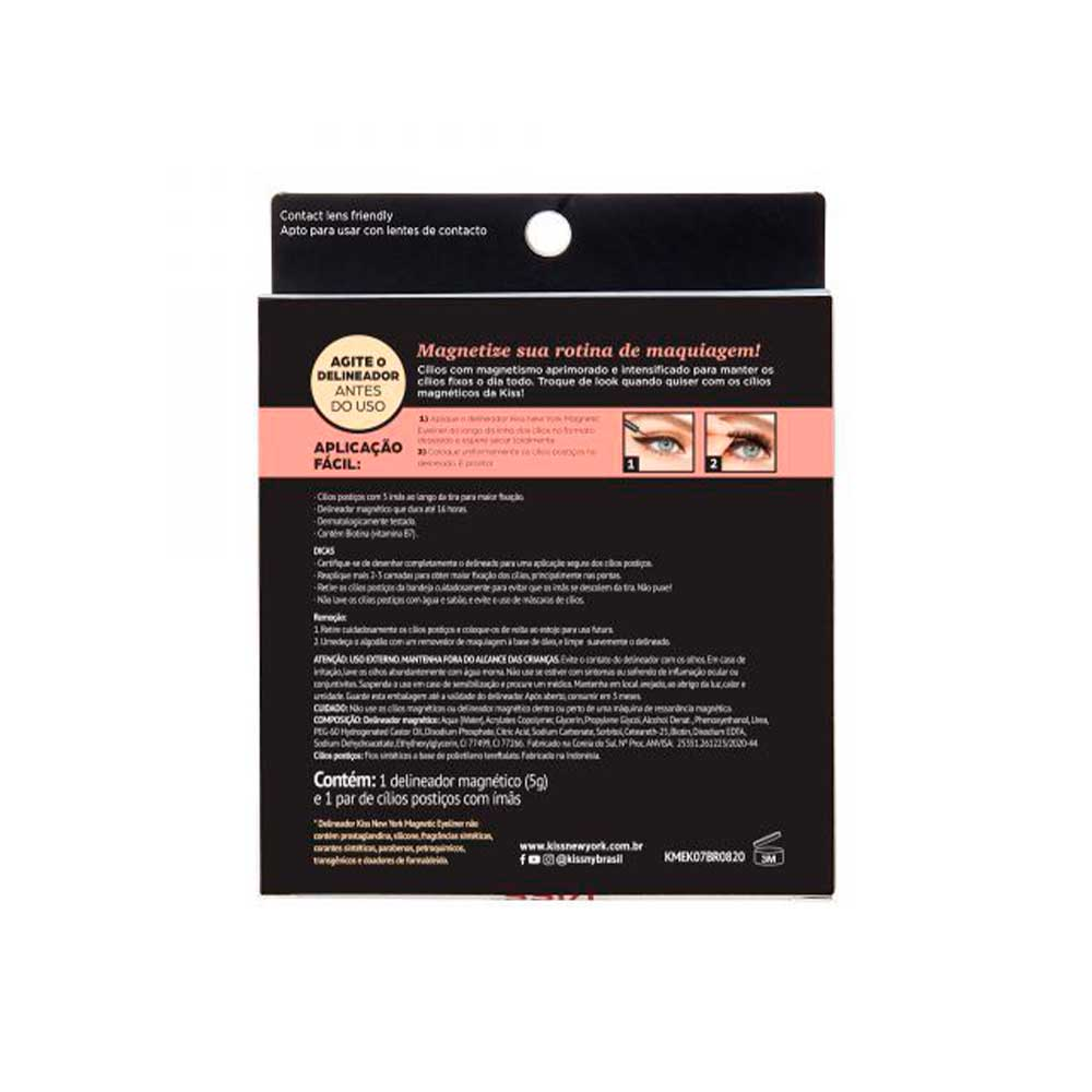 Cílios e Delineador Magnetic Eyeliner Tempt Kiss New York  - Caroline Gil Cosméticos