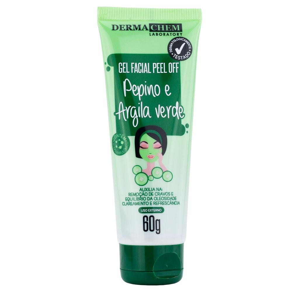 Gel Facial Peel Off Pepino e Argila Verde - Dermachem  - Caroline Gil Cosméticos