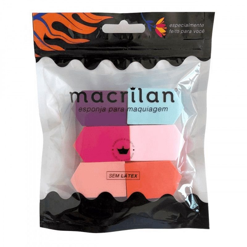Kit de Esponjas EP04 - Macrilan  - Caroline Gil Cosméticos