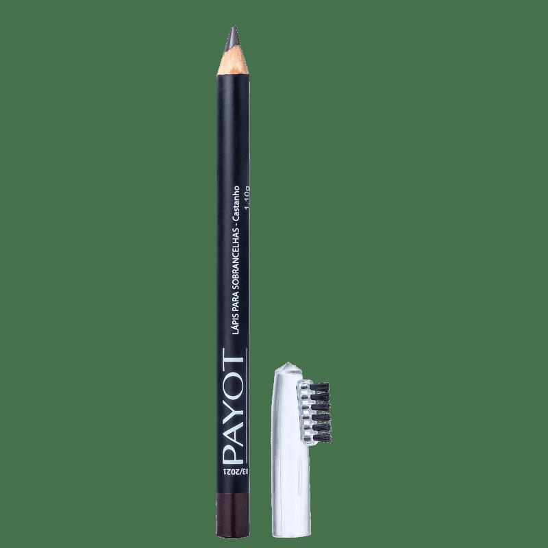 Lápis para Sobrancelha com Escovinha Castanho - Payot  - Caroline Gil Cosméticos