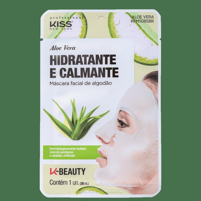 Máscara Facial Aloe Vera Hidratante e Calmante - Kiss New York  - Caroline Gil Cosméticos