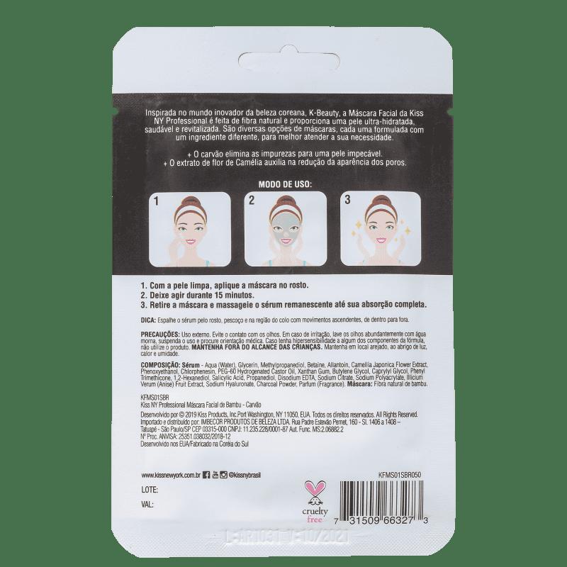 Máscara Facial Carvão Minimizador de Poros - Kiss New York  - Caroline Gil Cosméticos