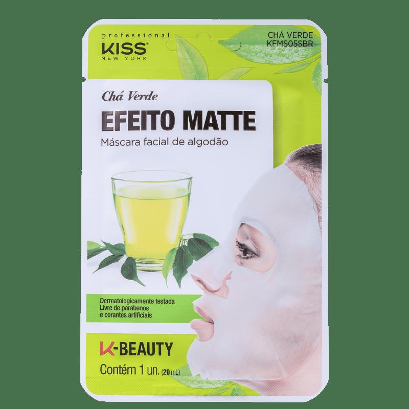 Máscara Facial Chá Verde Matificante - Kiss New York  - Caroline Gil Cosméticos