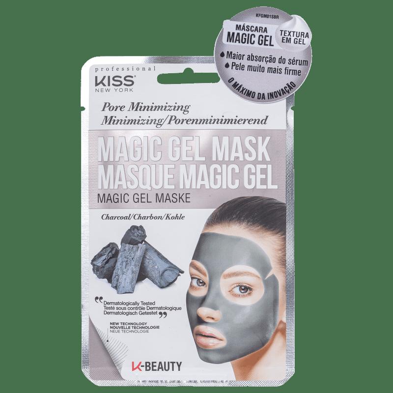 Máscara Facial Magic Gel Carvão - Kiss New York  - Caroline Gil Cosméticos