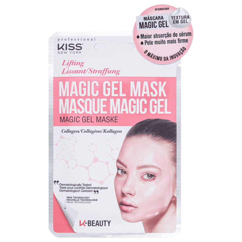 Máscara Facial Magic Gel Colágeno - Kiss New York  - Caroline Gil Cosméticos