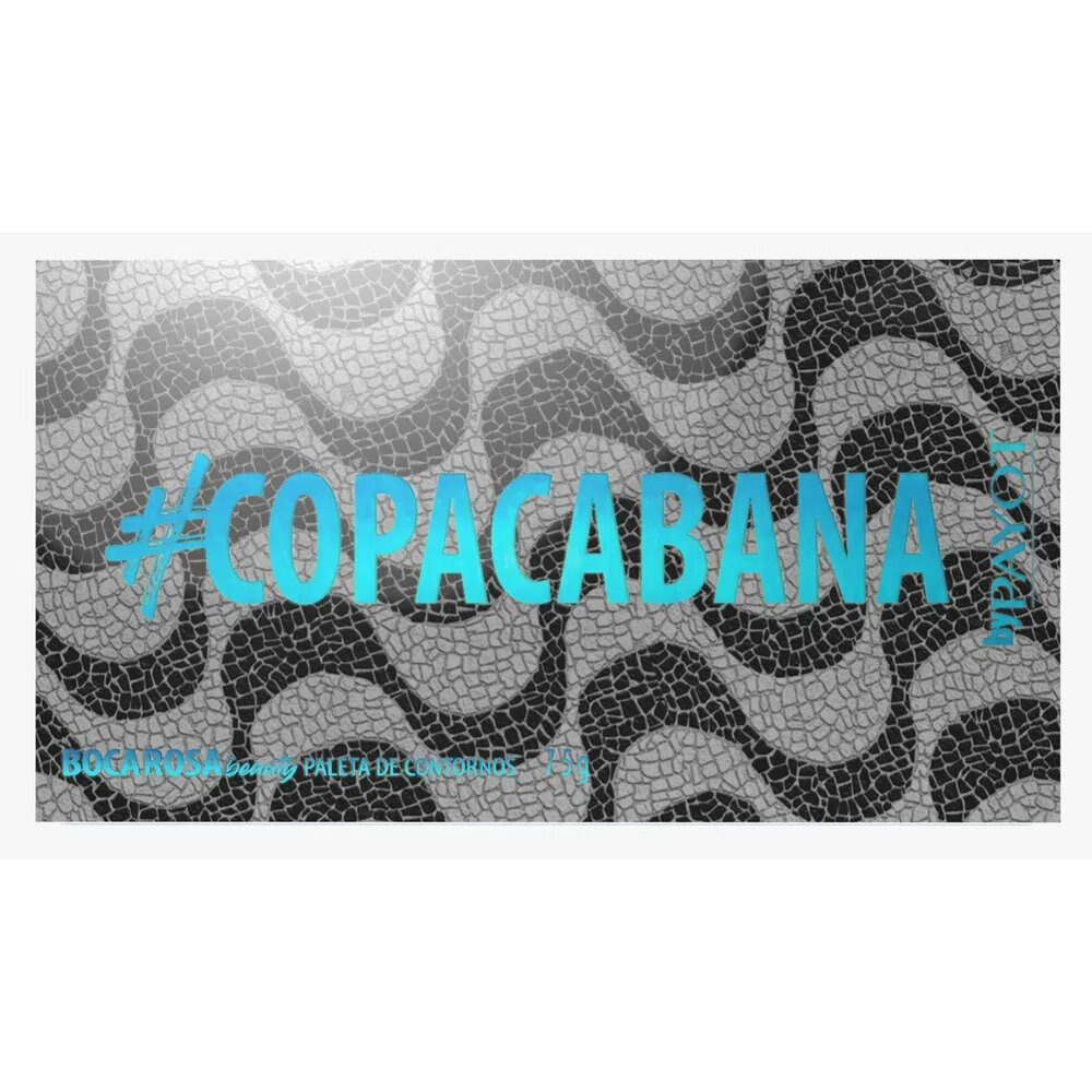 Paleta Contorno #Copacabana Boca Rosa Beauty  - Caroline Gil Cosméticos