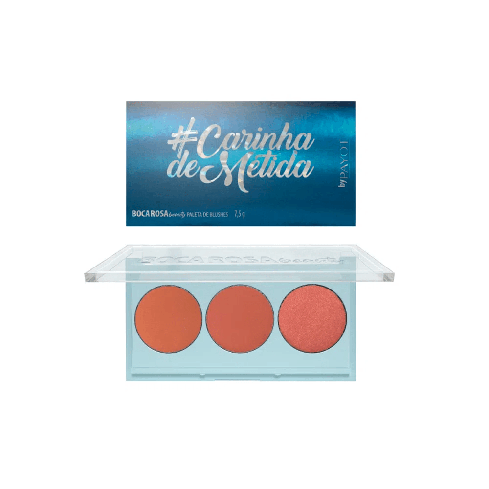 Paleta De Blush #Carinhademetida AZUL Boca Rosa Beauty by Payot  - Caroline Gil Cosméticos