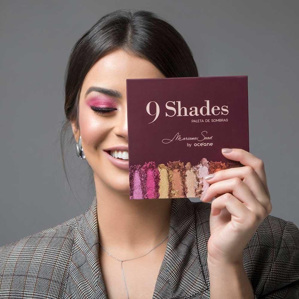 Paleta de Sombras 9 Shades Mariana Saad by Océane  - Caroline Gil Cosméticos
