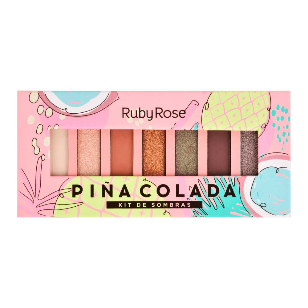 Paleta de Sombras Piña Colada Ruby Rose  - Caroline Gil Cosméticos